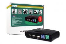 Digitus® KVM Switch 1User (PS/2 &USB), 2Pcs (USB)