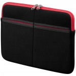 Textilgewebe-Tasche 10' für Apple iPad, Samsung Galaxy Tab, schwarz/rot