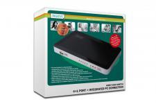 HDMI USB Video Switch, 4 HDMI IN, 1 USB IN = 1 HDMI OUT Für Win7, Vista, Xp, Mac OS X Digitus® [DS-45310]