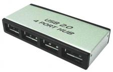 LogiLink® USB 2.0 Hub 4-Port mit Netzteil aus Aluminium [UA0003]