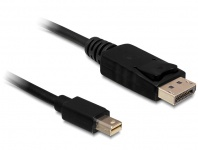 Kabel Mini Displayport 1.2 Stecker an Displayport Stecker 4K, schwarz, 0, 5m, Delock® [83984]