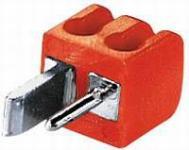 kabelmeister® Lautsprecher Mini Stecker, einzeln, rot
