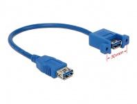 Kabel USB 3.0 Typ-A Buchse an USB 3.0 Typ-A Buchse zum Einbau 25 cm, Delock® [85111]