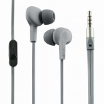 Wassergeschütztes (IPX6) Stereo In-Ear Headset, Grau, LogiLink® [HS0041]