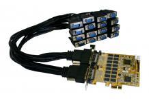 16S PCIe Serielle RS-232 Karte mit Octopus Kabel, Exsys® [EX-44016]