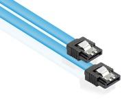 Anschlusskabel SATA 6 Gb/s mit Metallclip, blau, 0, 3m, Good Connections®