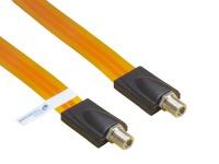 SAT Fensterdurchführung High-Quality, Gesamtlänge inkl. Stecker 26, 5cm, flexible Länge 17, 5cm, transparent, Good Connections®