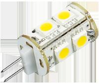 Power SMD-LED, 1, 8W, 12V, 100 lm, 3000K, (warmweiß), dimmbar, A+, 270____deg; Abstrahlwinkel