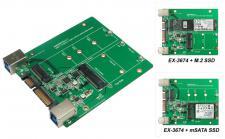 USB 3.1 (Gen.2) und SATA3 zu M.2 NFGG & mSATA SSD Karte, Exsys® [EX-3674]