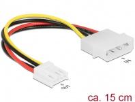 Stromkabel 4 Pin Stecker an 4 Pin Floppy Buchse, 0, 15 m, Delock® [85337]