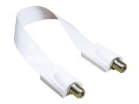 SAT Fensterdurchführung High-Quality, Gesamtlänge inkl. Stecker 32cm, flexible Länge 23cm, weiß, Good Connections®