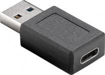 Adapter USB 3.0 Stecker A an USB-C™ Buchse, schwarz
