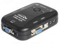KVM Switch mit USB und Audio 2 an 1 VGA , Delock® [11348]