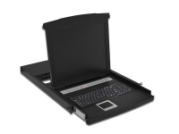 Konsole mit 48, 3cm ( 19') TFT, französische Tastatur, 16-Port, Touchpad, 1U RAL9005, schwarz, Digitus® [DS-72013FR]