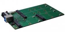 USB 3.1 (Gen.2) zu 2 x M.2 NFGG & mSATA SSD Karte, RAID 0/1 mit Anschluss B-Buchse, Exsys® [EX-3673]