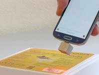 Micro USB Barcode Scanner 1D für Android - Linienscanner, Delock® [90281]