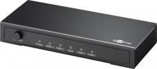 HDMI™ Splitter 4-fach (1x Eingang, 4x Ausgang), UHD 4K2K, vergoldete Kontakte, aktive Signalverstärkung, geschirmtes Metallgehäuse, inkl. Netzteil