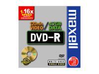Maxell® DVD-R 16x speed 1er Jevel Case 4, 7 GB