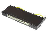 Patch Panel Desktop Cat. 6A, geschirmt, STP, 0, 5 HE, 8-Port, tiefschwarz RAL9005, Good Connections®