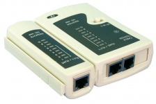 LogiLink® Kabeltester für RJ11, RJ12 und RJ45 mit Remote Einheit [WZ0010]
