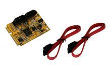 SATA3 RAID 0/1 Mini PCIe Controller für HDD und SSD Drives, Exsys® [EX-48080]