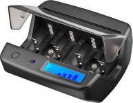 Universal LCD-Tischladegerät für bis zu 4x Mignon, Micro, Baby, Mono und 2x 9 V-Block