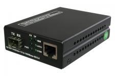 kabelmeister® Gigabit Media Konverter RJ45 zu SFP, 10/100/1000 BaseT bis 550m MM, 120km SM
