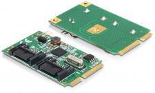 MiniPCIe I/O PCIe full size 2 x SATA 6 Gb/s, Delock ® [95233]