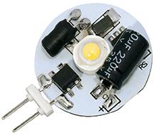 Power SMD LED, 1, 3W, 12 - 30V, 110 lm, 3000K, (warmweiß), nicht dimmbar, A++, 120____deg; Abstrahlwinkel