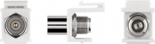 KeyStone Modul, Koax Stecker an F-Buchse, Gehäuse weiß