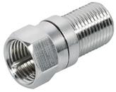 kabelmeister® Adapter SAT F-Buchse an F-Stecker