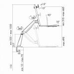 Sitz-/Steharbeitsplatz Monitor-Schreibtischhalterung, neigbar -15____deg;/+15____deg;, schwenkbar -90____deg;/+90____deg;, drehbar -180____deg;/+180____deg;, 13'-32', LogiLink® [BP0040]