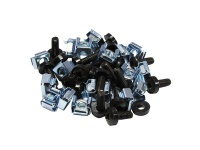 kabelmeister® Befestigungssatz M6, Schrauben 20 mm, 20er Set, schwarz