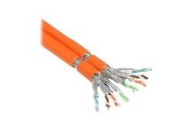 Verlegekabel Cat. 7 S/FTP PiMF 1000MHz Duplex, AWG23, FRNC-B, orange, 100m, Good Connections®