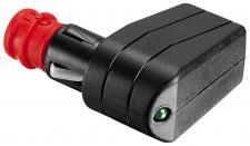 KFZ Sicherheits-Universalstecker, gewinkelt, mit Leuchtdiode, 7, 5A, 12-24 V mit geschraubter Zugentlastung, ProCar®