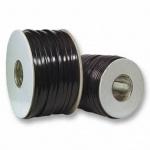kabelmeister® Modular-Flachbandkabel 6-adrig schwarz, 500m-Rolle