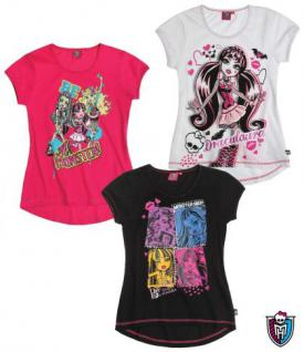 Monster High T-Shirt in 3 farben