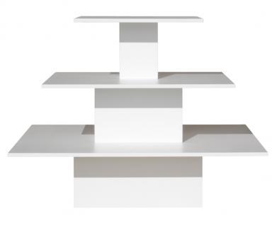 Regalpyramide groß Weiß Mittelraumpräsenter Warenträger Ladeneinrichtung Textil
