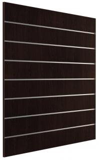Ladeneinrichtung Lamellenwand Deko Wand Accessoire Aufhänger 1200 x 1200 mm Dekor Wenge - Vorschau