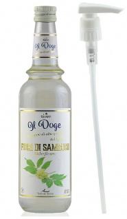 21, 41€/ Il Doge Sirup Holunderblüte 0, 7 Liter Cocktailsirup incl. Dosierpumpe