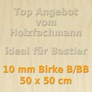 Sperrholz 10mm Birke Sperrholzplatte Modellbau Holzplatte Bastelholz 50 x 50 cm