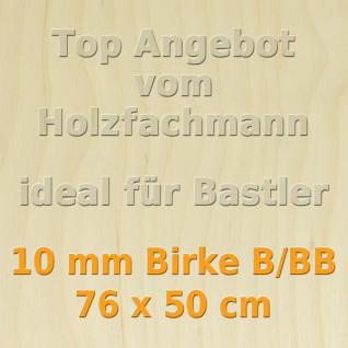 Sperrholz 10mm Birke Sperrholzplatte Modellbau Holzplatte Bastelholz 76 x 50 cm