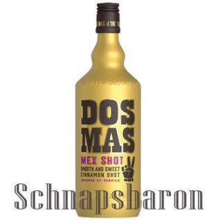 DOS MAS Tequila verfeinert mit Zimtlikör 0, 7 Liter