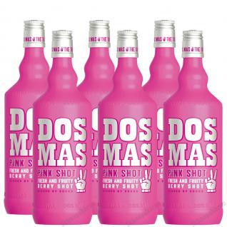 DOS MAS PINK SHOT mit Vodka 6 x 0, 7 Liter