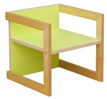 Kinderstuhl Kindermöbel Stuhl Tisch Michel Birke/Grün in 3 Sitzhöhen