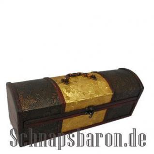 Flaschentruhe Gold/Braun für 1 Flasche