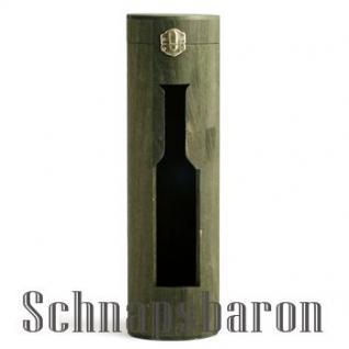 """Flaschenbox Holz rund """"Tube"""" für 1 Flasche"""