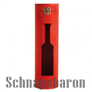 """Flaschenbox Holz rund """"Tube"""" für 1 Flasche - Vorschau"""