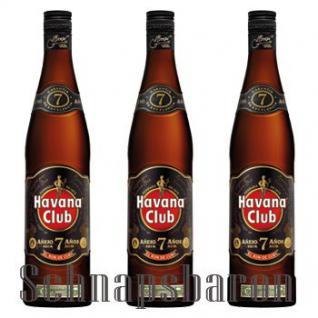 Havana Club Ron Anejo 7 Jahre 3 x 0, 7 Liter