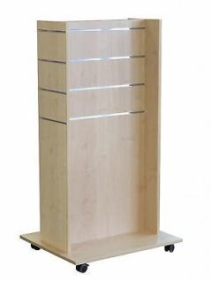 Mittelraumpräsenter Accessoires Ständer Ladeneinrichtung Gondel Farbe Ahorn